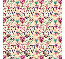 Girly Heart Doodle  Photographic Print