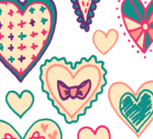 Girly Heart Doodle  Sticker
