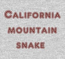 Californiamountainsnake by -claratatouille