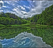 Prior Park, Bath in symmetry by Tim Constable by Tim Constable
