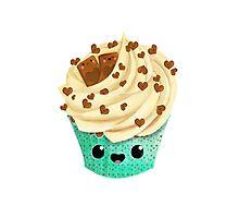 Cute Kawaii Vanilla Cupcake Photographic Print