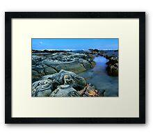 Primary Blue Rocks Framed Print