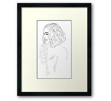 Beyonce - Simple Lines Framed Print