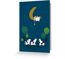A Cow Jump over the moon Greeting Card