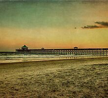 Folly Beach at Sunset: Charleston SC by Kadwell