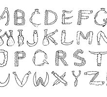 Chicken or Beef Alphabet by PolydsignStudio