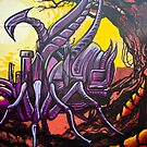 Graffiti Art Scorpion by yurix