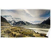 Mt Cook and Hooker Lake Poster