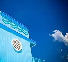 Beach Hut Blue by thejourneysofar