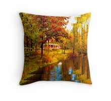 House on Pine River,Wisconsin U.S.A. Throw Pillow