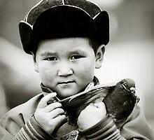 Mongolian boy during Nadaam Festival , Ulaanbaator, Mongolia by jennyjones
