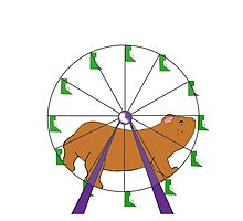 Hamster on a ferris wheel by textilestalk