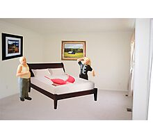 To dispel the idea I never listen to you-SURPRISE..here's that mammory foam mattress you wanted. Photographic Print