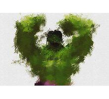 Green Smash Photographic Print