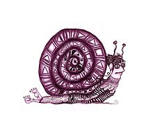 Crazy Snail Pillow by Angelina Elander