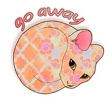 Go Away - Patterned Cat Illustration by Perrin Le Feuvre