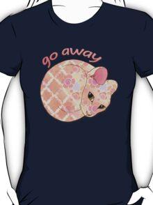 Go Away - Patterned Cat Illustration T-Shirt