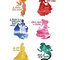 Disney Princesses by peasandkaris