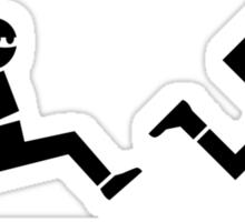 Nazi Hunting (black) Sticker