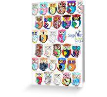 Sage Vista School Owls 2013-14 Greeting Card