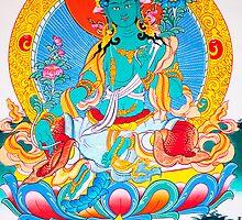 Thangka painting Green tara by navaram
