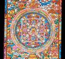 Thangka painting The wheel of life by navaram