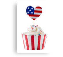 Independence day cupcakes Canvas Print