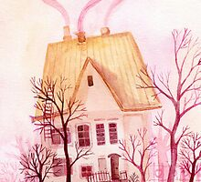 Pinky fairytale cottage by lileinaya
