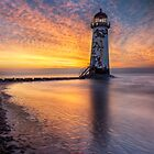 Sunset at the Lighthouse by Ian Mitchell