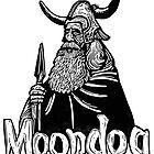 Moondog linocut by Ieuan  Edwards