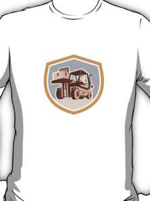 Forklift Truck Materials Handling Logistics Shield T-Shirt