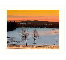 Amazing winter wonderland sundown | landscape photography Art Print