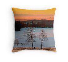 Amazing winter wonderland sundown | landscape photography Throw Pillow