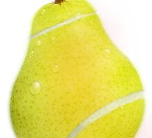 Tennis ball pear by Pretty Disturbia