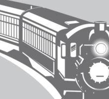 Steam Train Locomotive Retro Shield Sticker