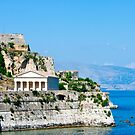 Greek Temple on Coast of Corfu by dbvirago