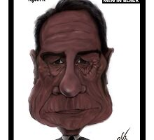 Tommy Lee Jones Caricature by monkeycircusart