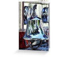 Fire Engine Bell Closeup Greeting Card