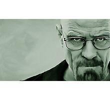 'The Danger' Handpainted Heisenberg Portrait (Green) Photographic Print