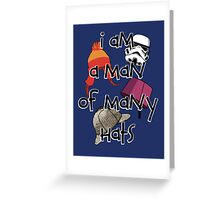 Man of Many Hats Greeting Card