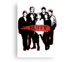 BTVS CAST (S3): The Scoobies! Canvas Print