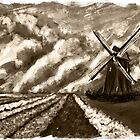 Dutch landscape (sepia) by Richard Eijkenbroek