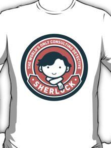 Cute Sherlock Holmes in Red T-Shirt