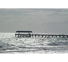 Silver lights at Henley Beach Photographic Print