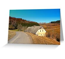 Traditional abandoned farmhouse | architectural photography Greeting Card