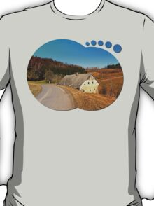 Traditional abandoned farmhouse | architectural photography T-Shirt