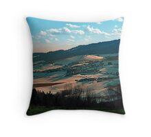 Winter wonderland valley scenery | landscape photography Throw Pillow