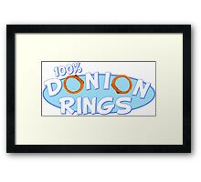 Donion Rings Framed Print