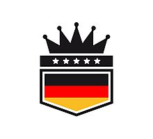 Coat of arms banner King Germany Photographic Print