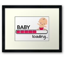 Baby loading... Framed Print